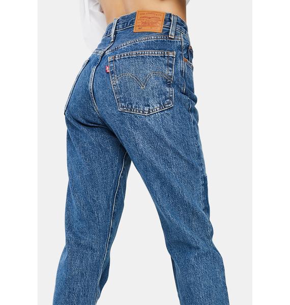 Levis Patching In 501 Original Denim Jeans