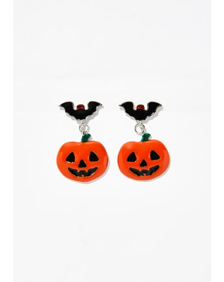 All Hallow's Eve Jack-o-Lantern Earrings