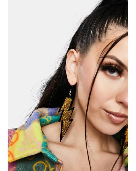 Gold Struck By Love Drop Earrings