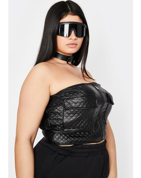Noir Please Love Me Softly Cargo Tube Top