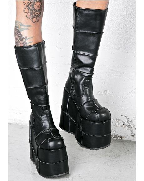 Stack Patched Platform Boots