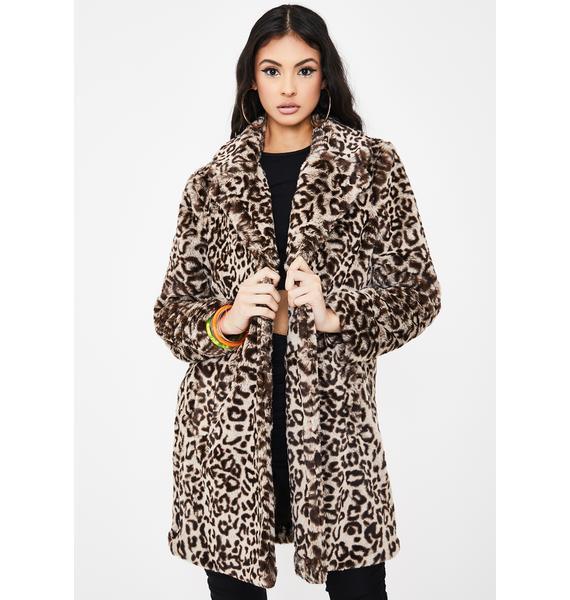 BB Dakota Meowie Wowie Faux Fur Coat