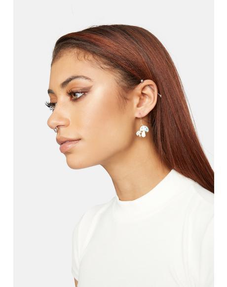 Get Lucky Mushroom Earring Set