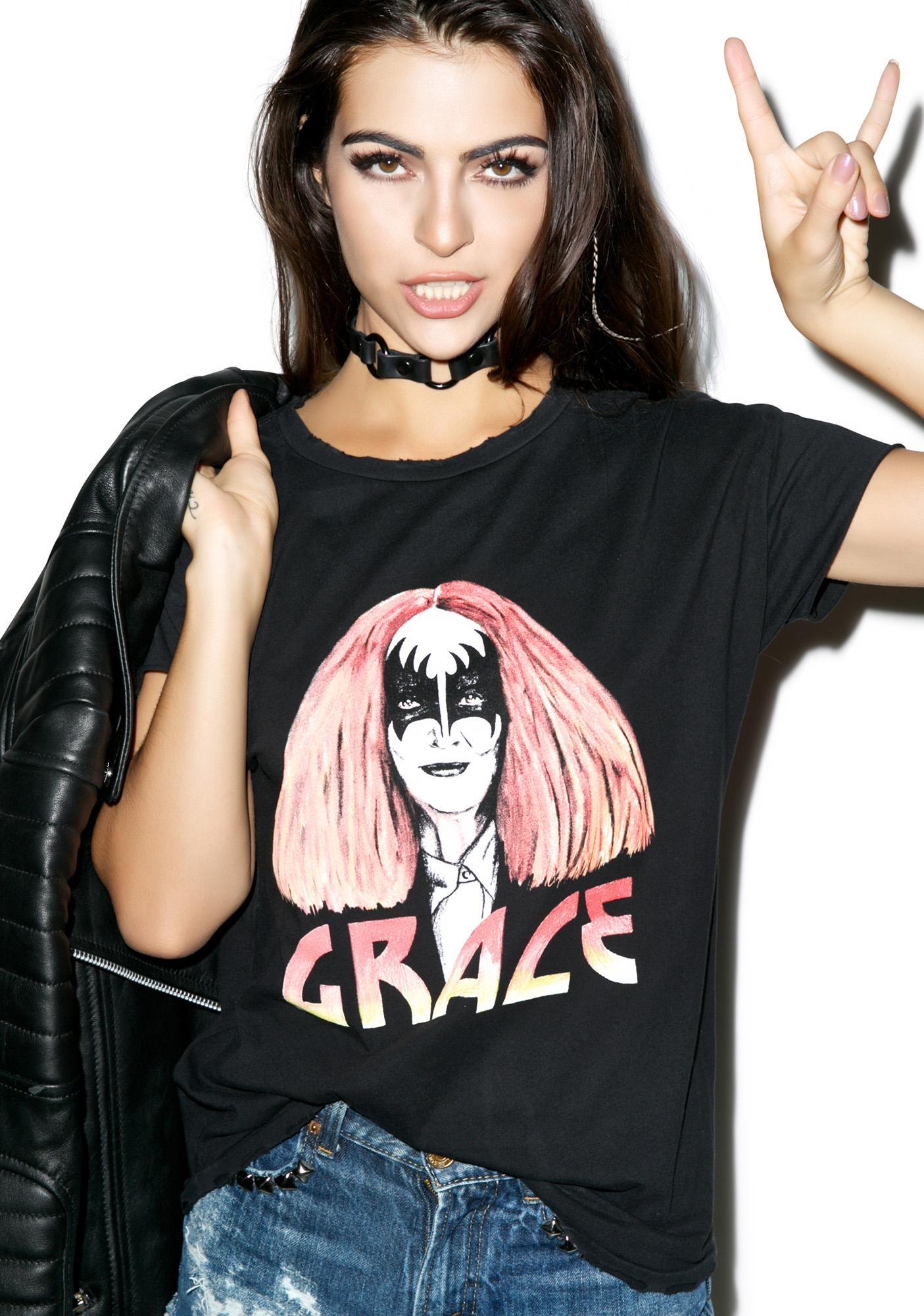 Stylestalker Grace Distressed Tee