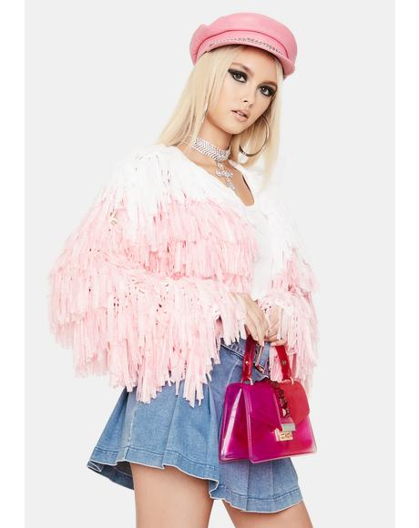 Sweet Shake It Off Fringe Jacket