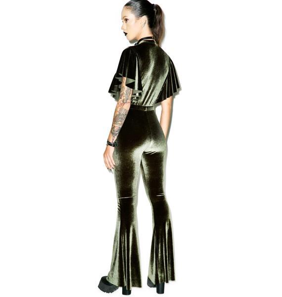 Sugarhigh + Lovestoned Penny Velvet Jumpsuit
