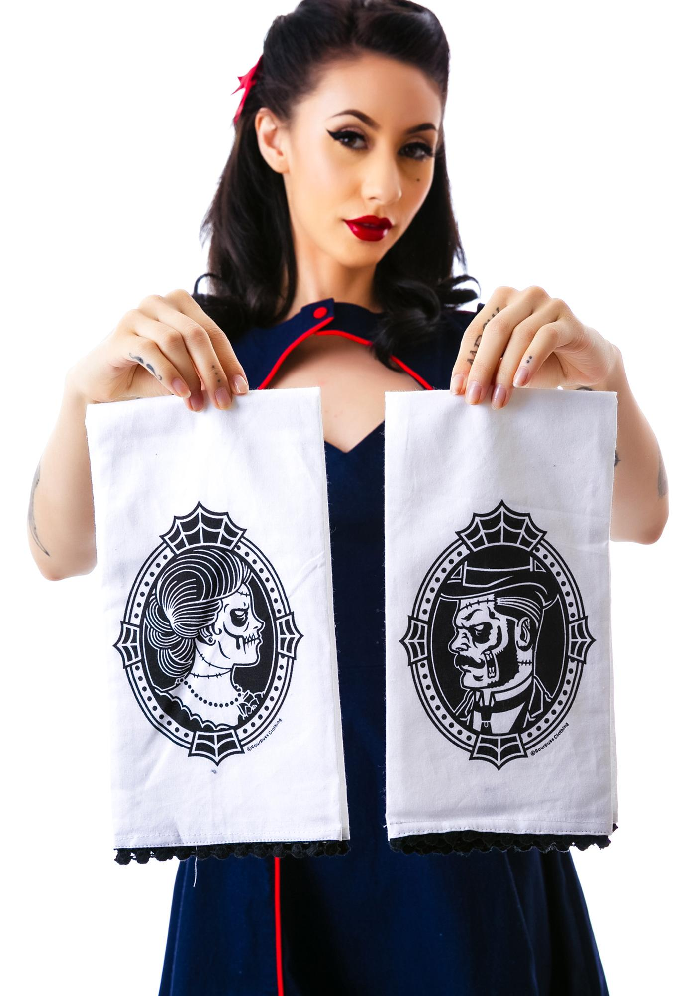 Sourpuss Clothing Zombie Cameo Tea Towel