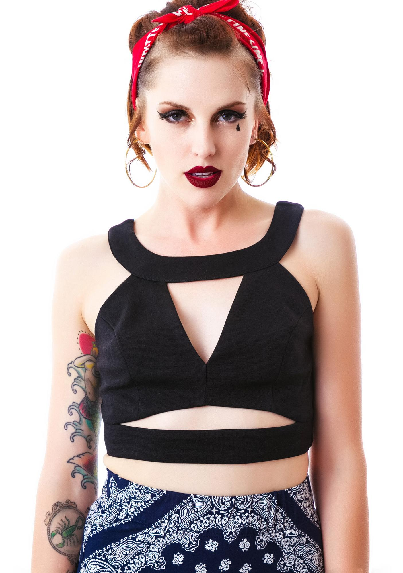 Maxine Cut Out Crop Top