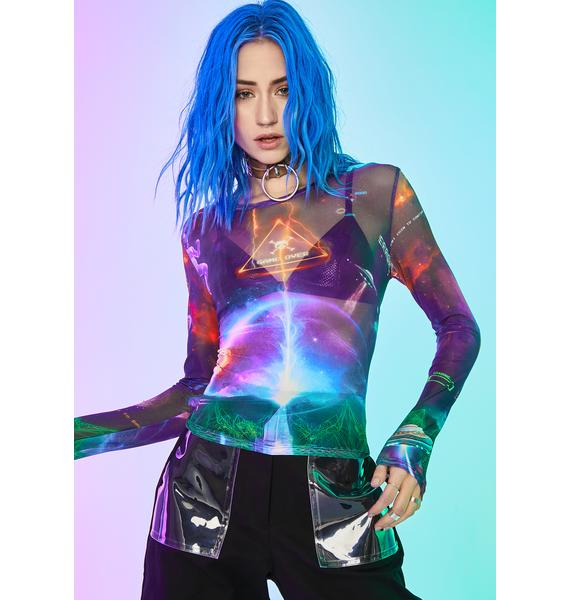 Current Mood Future World Mesh Top