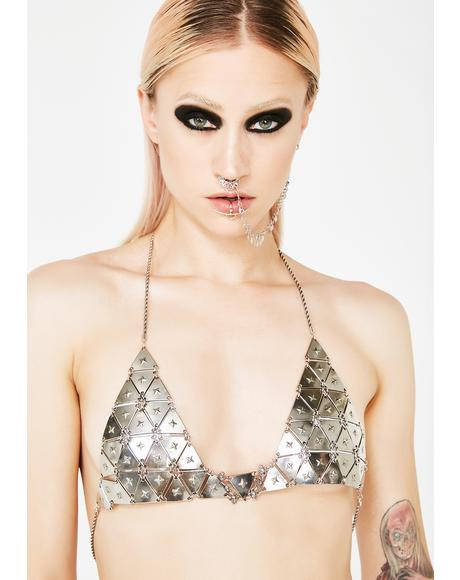 Armed N Dangerous Chain Bralette