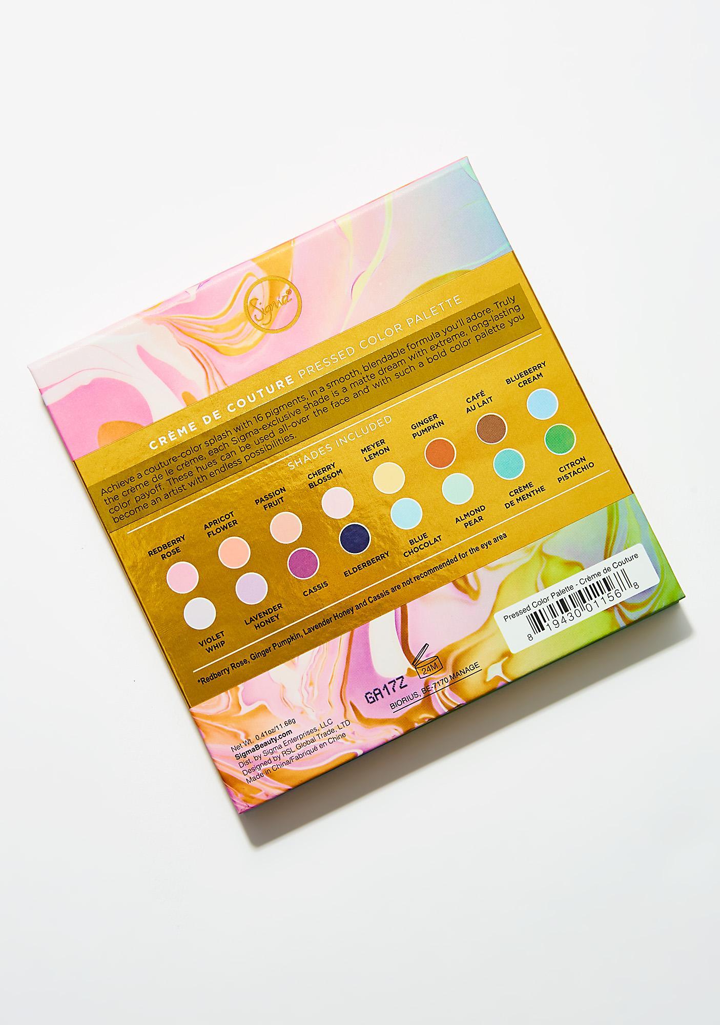 Sigma Crème de Couture Pressed Color Palette