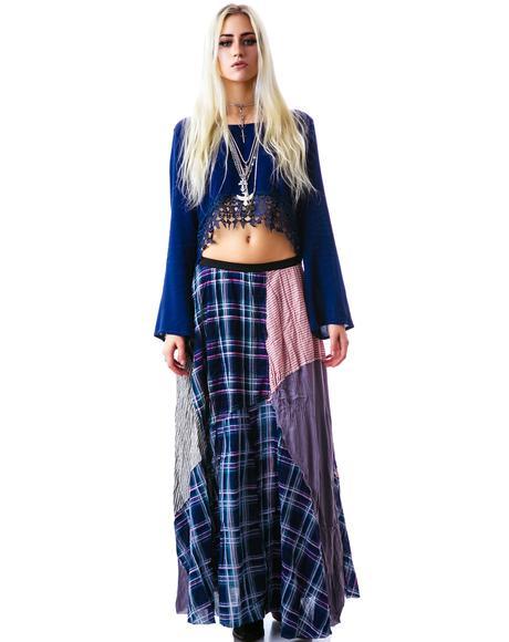 Patchwork Bohemian Maxi Skirt