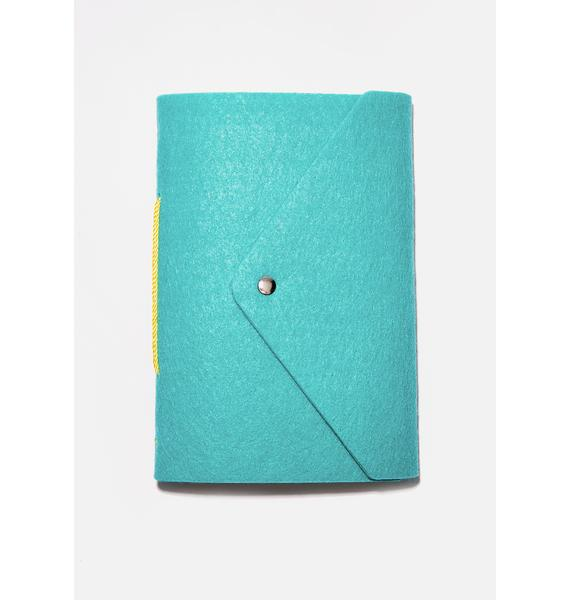 Ohh Deer Turquoise Felt A5 Notebook
