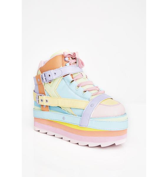 Y.R.U. Pastel Qozmo Bondage Platform Sneakers
