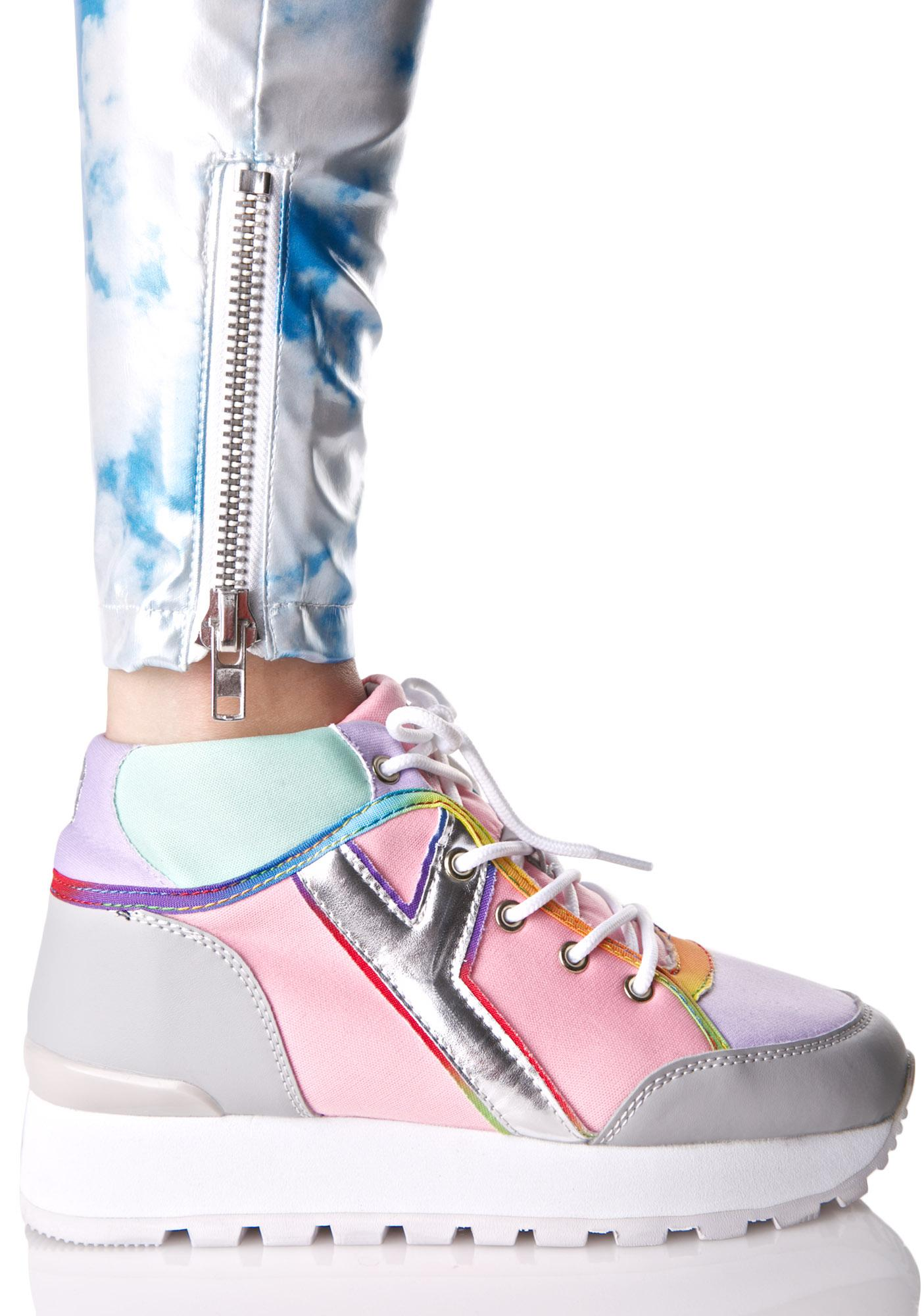 Y.R.U. Tune Pastel Hi-Top Sneakers