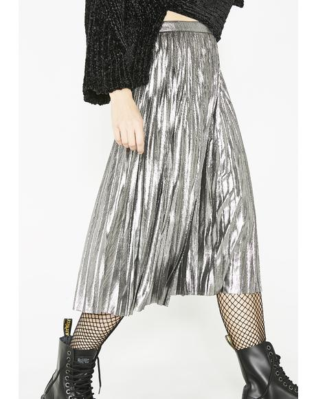 Tipsy Twirl Metallic Skirt