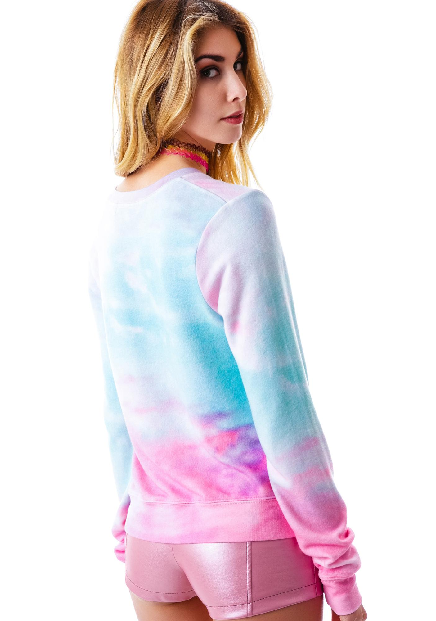 Wildfox Couture Heaven Clouds V-Neck Baggy Beach Jumper