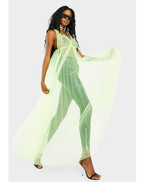 Electric Jewel Lagoon Maxi Dress
