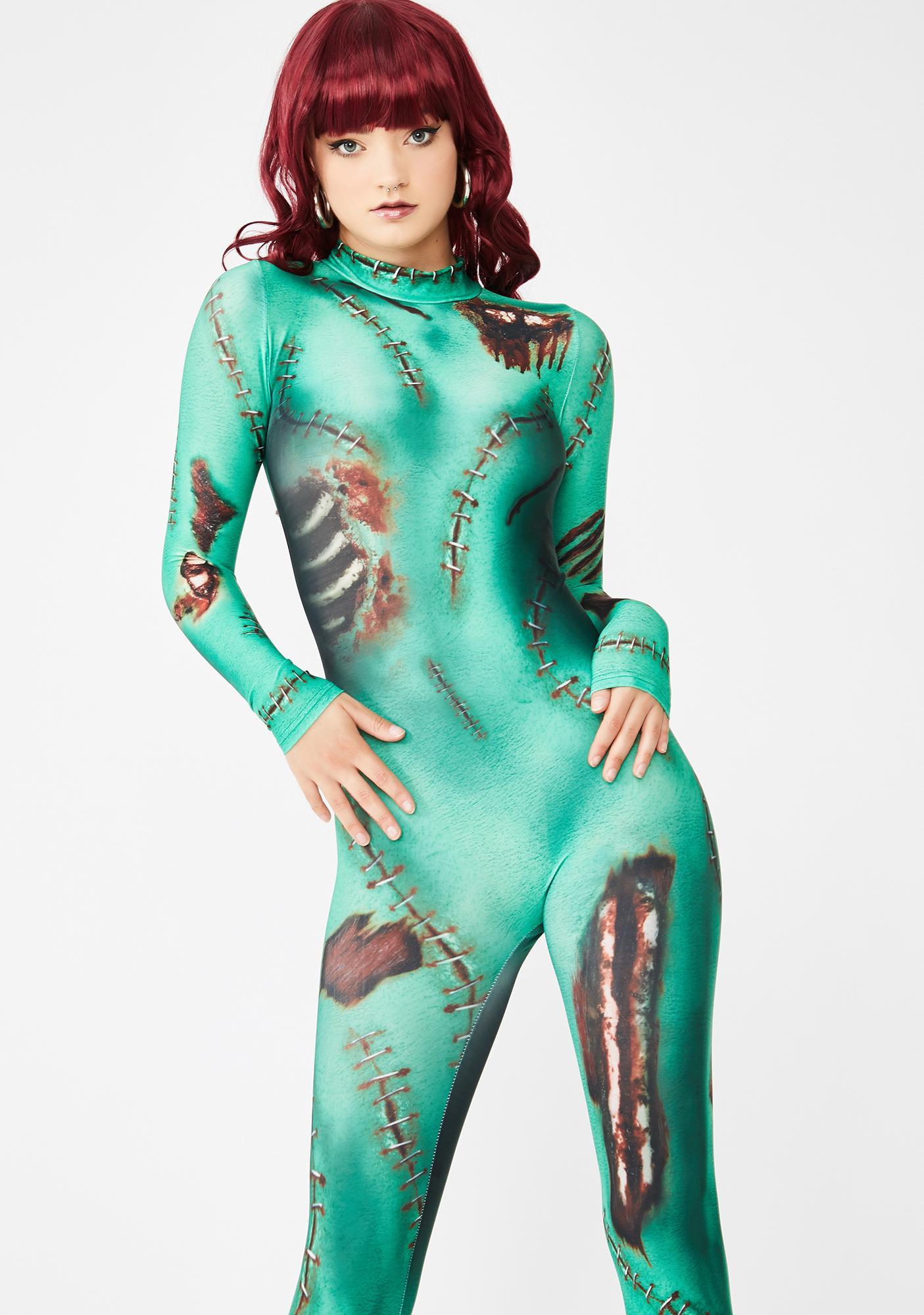 Dolls Kill Monster Inside Me Catsuit