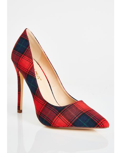 Principle's Office Plaid Pumps
