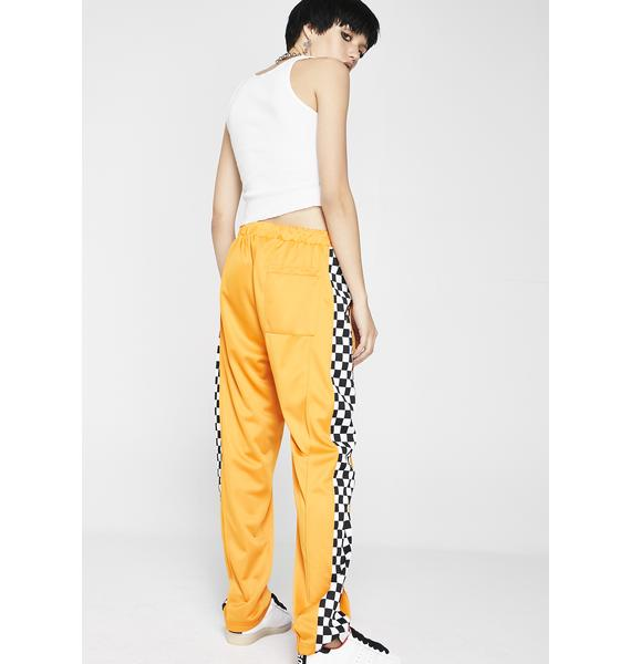 Pleasures Checkered Track Pants