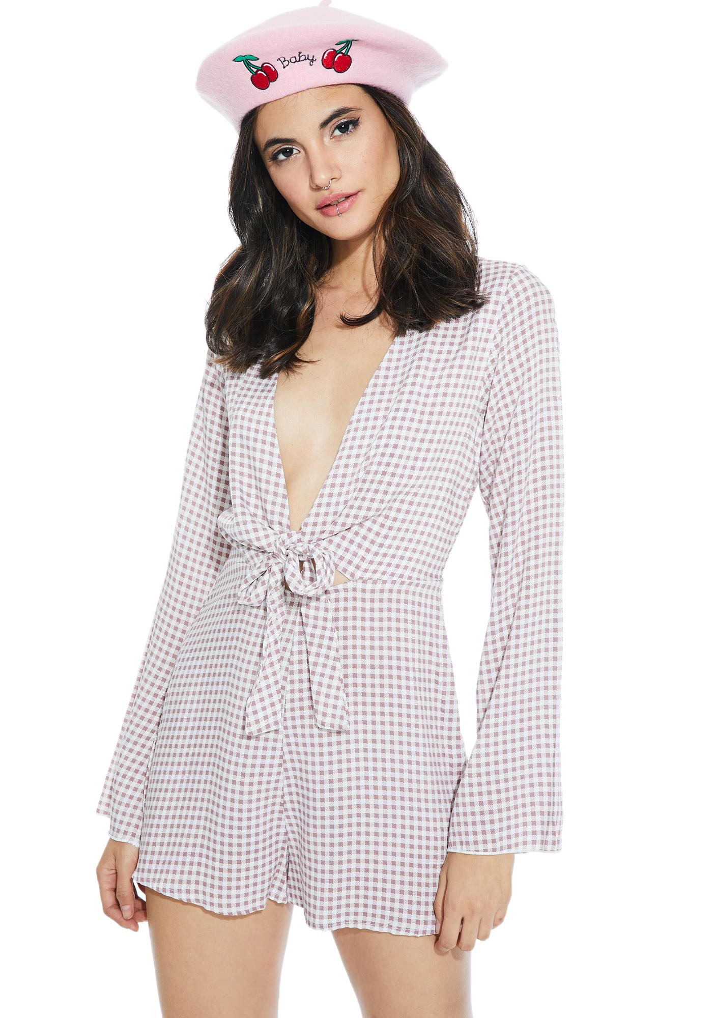 Sweetie Pie Gingham Romper