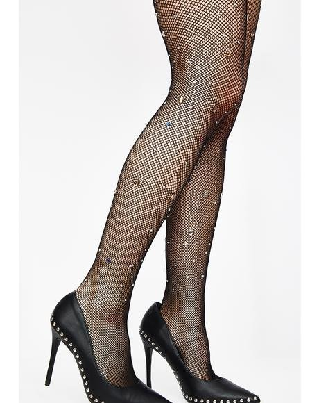 Crystal Visionz Fishnet Tights