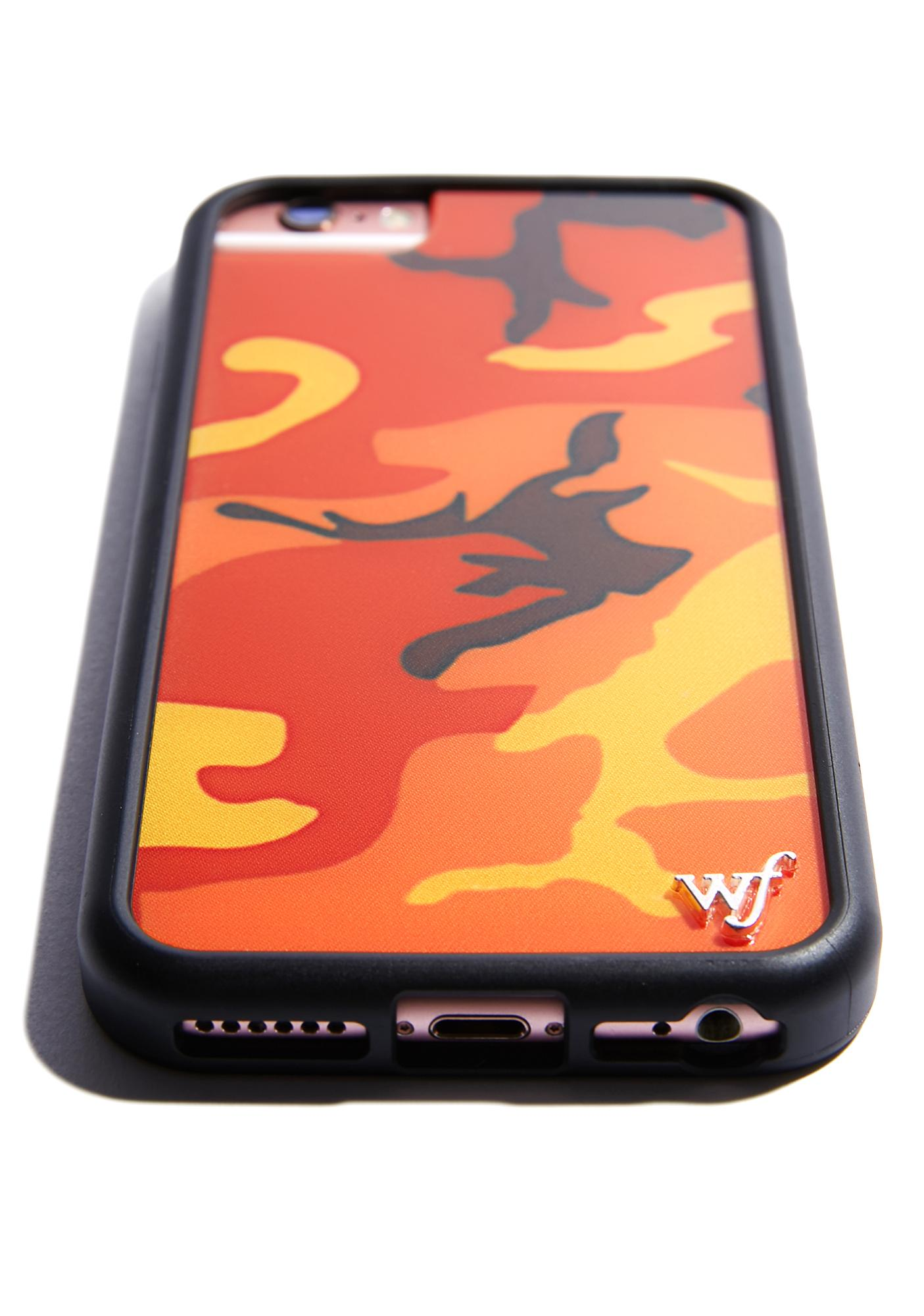 half off 77324 5ee44 Orange Camo iPhone Case