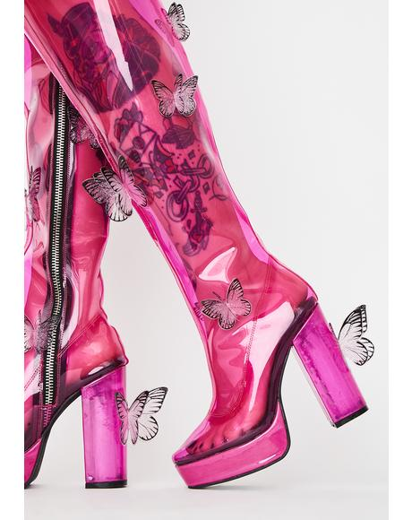 Miracle Dream Thigh High Boots