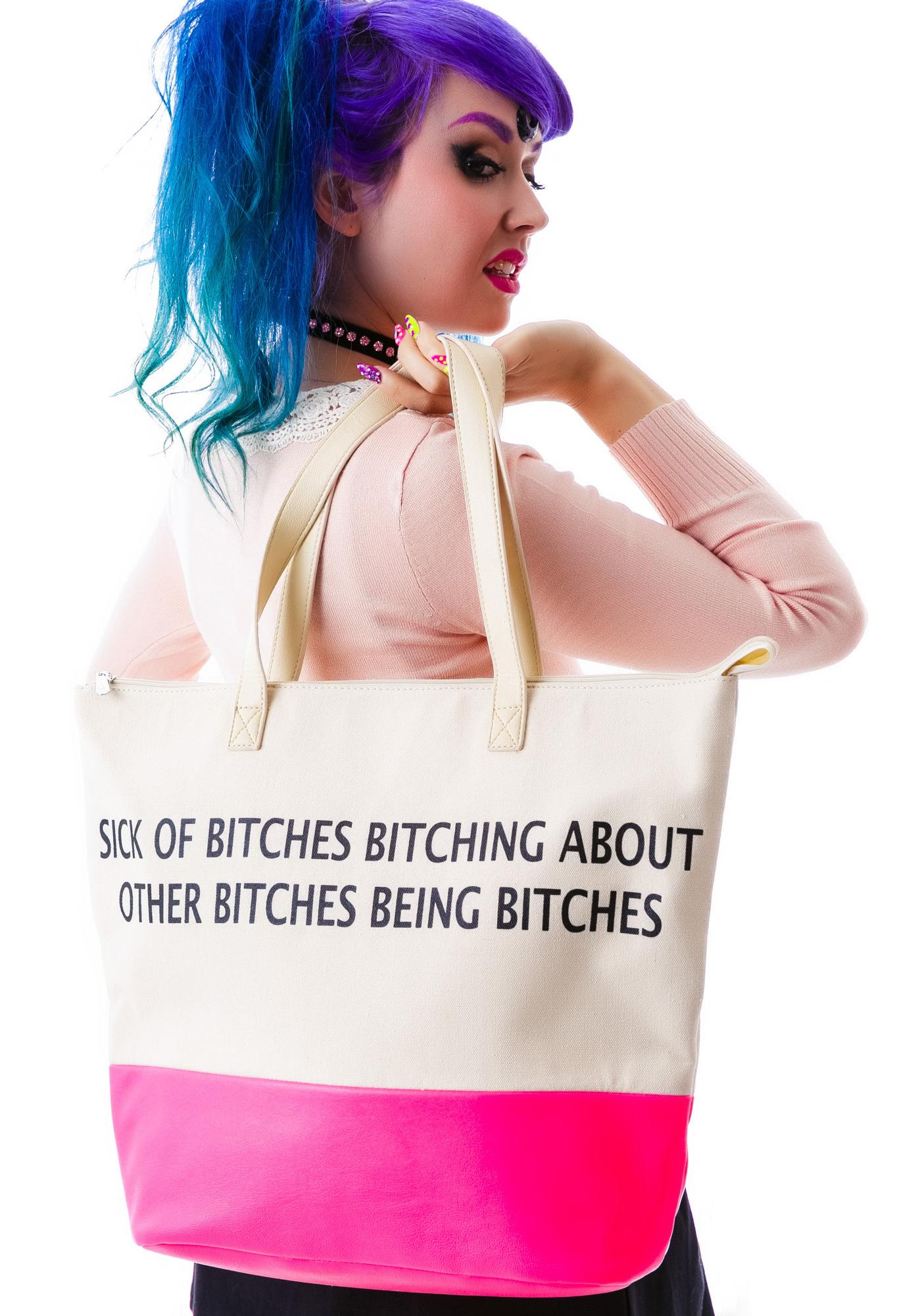 Iron Fist Bitches Tote Bag