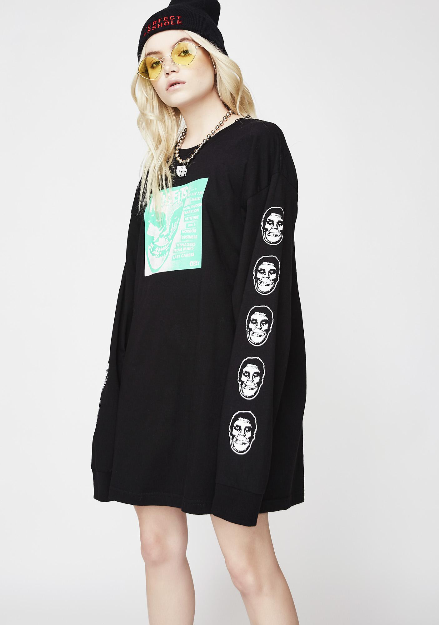 Obey x Misfits Long Sleeve Tee