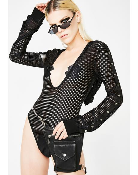 Limitless Hooded Fishnet Bodysuit