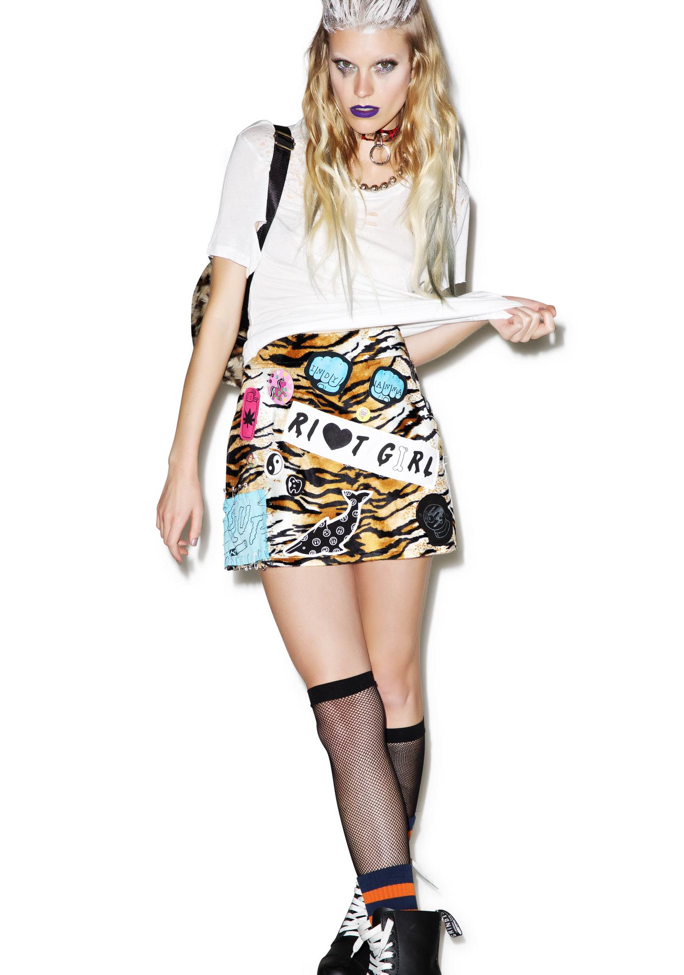 Indyanna Marina High Waisted Tiger Mini Skirt