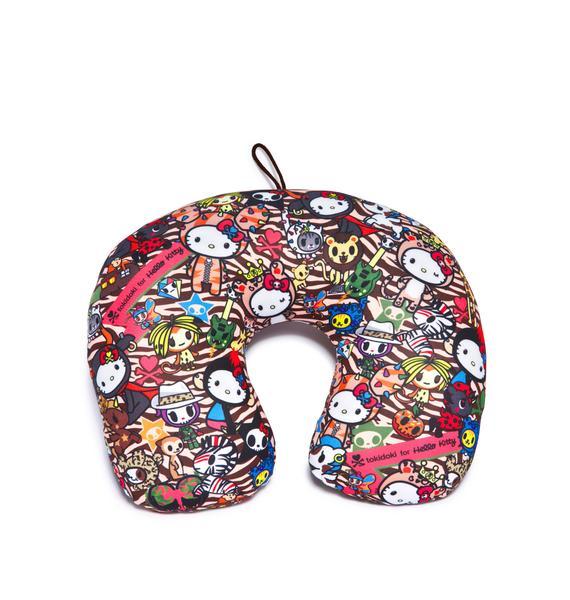 Sanrio Tokidoki X Hello Kitty Summer Safari Travel Pillow