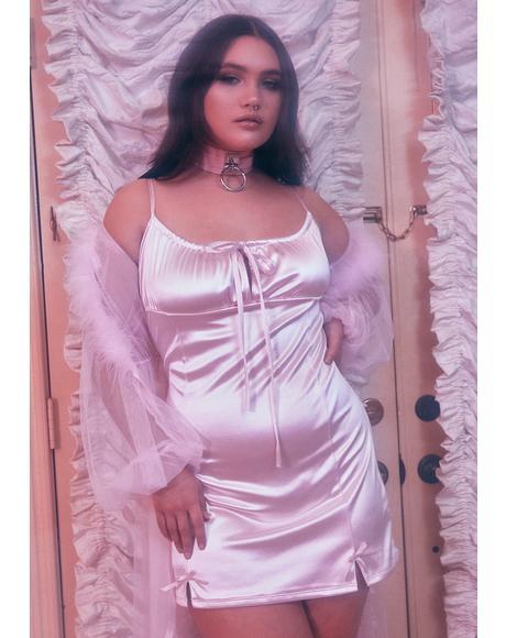 I'm Cupid's Crush Satin Dress