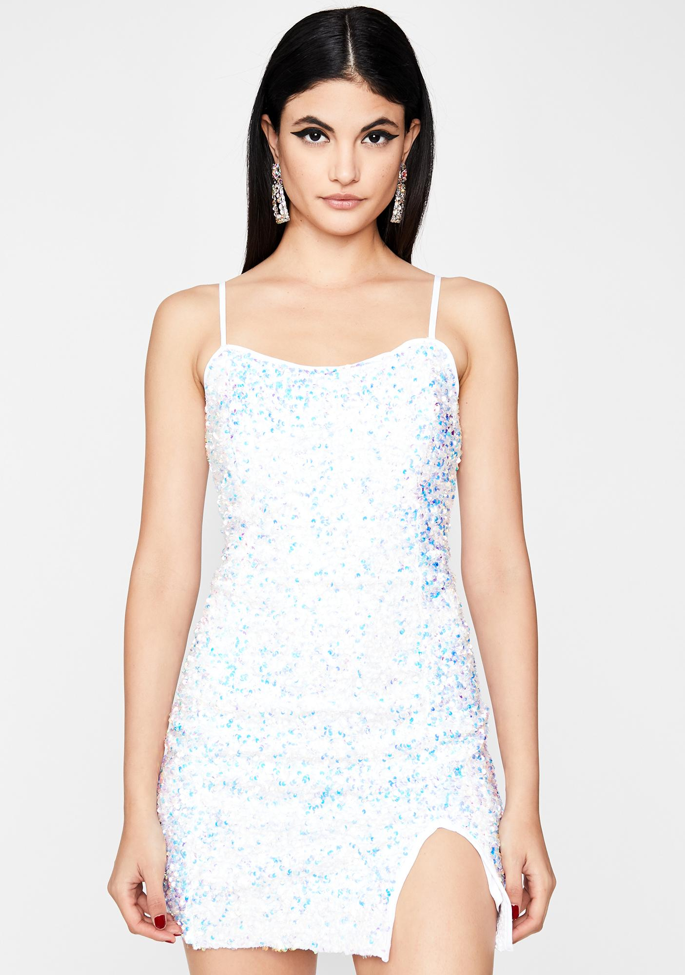 Psychedelic Snowflake Mini Dress