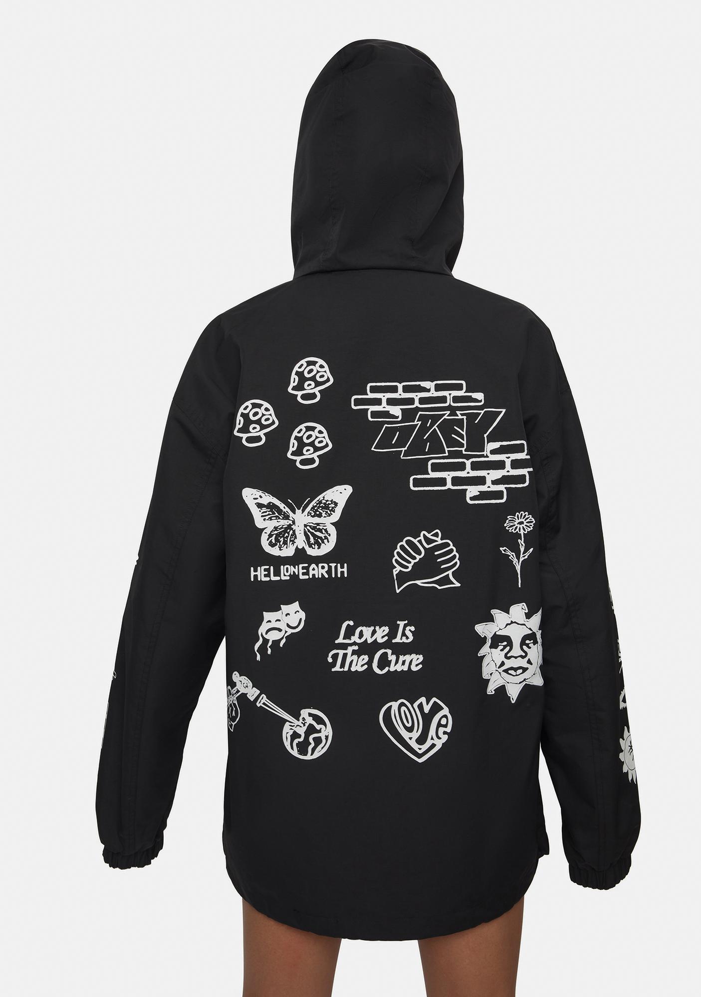 Obey Bad Behavior Deconstructed Zip Jacket