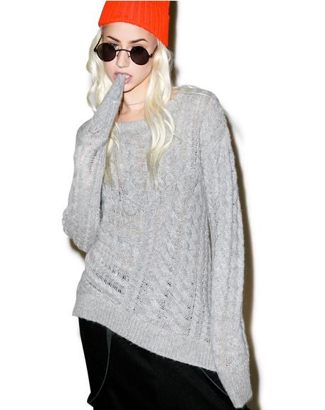 Sovereign Wool Blend Knit Sweater