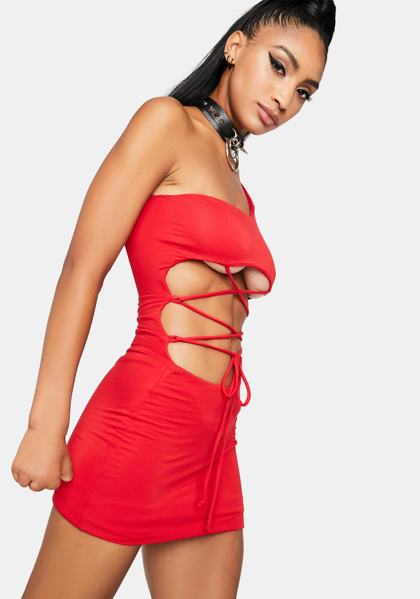 Call Me Vixen Lace-Up Dress