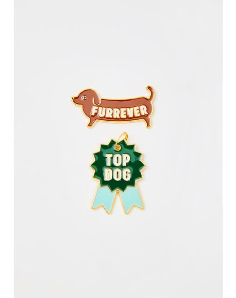Top Dog Pin N' Tag Set
