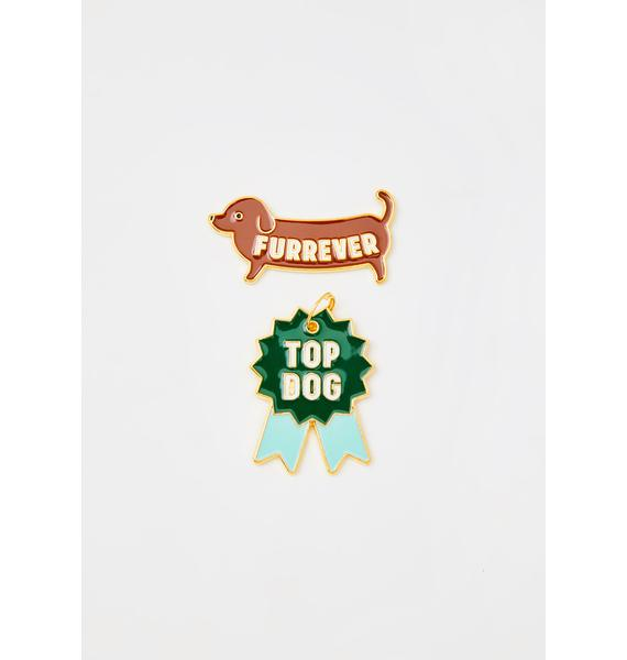 Wild & Wolf Top Dog Pin N' Tag Set
