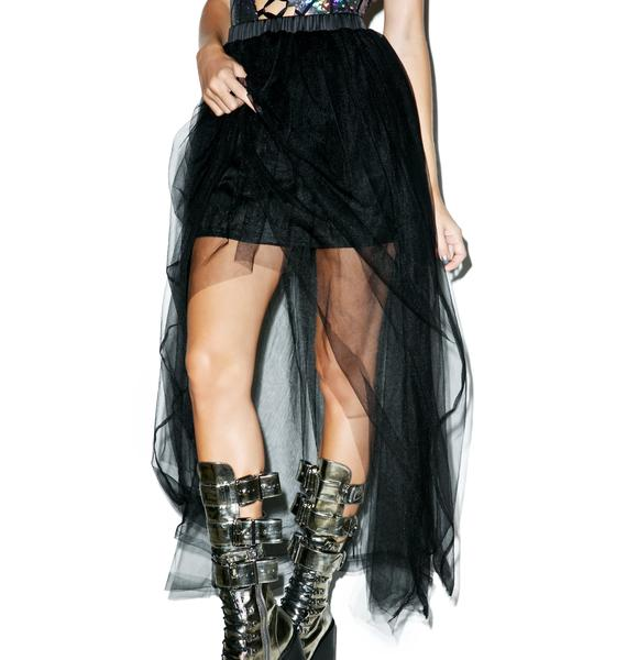 Tulle Destinations High-Low Maxi