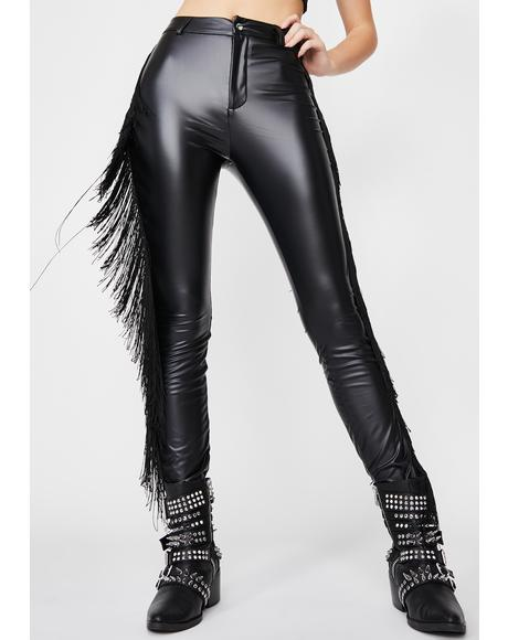 Midnight Rider Fringe Pants