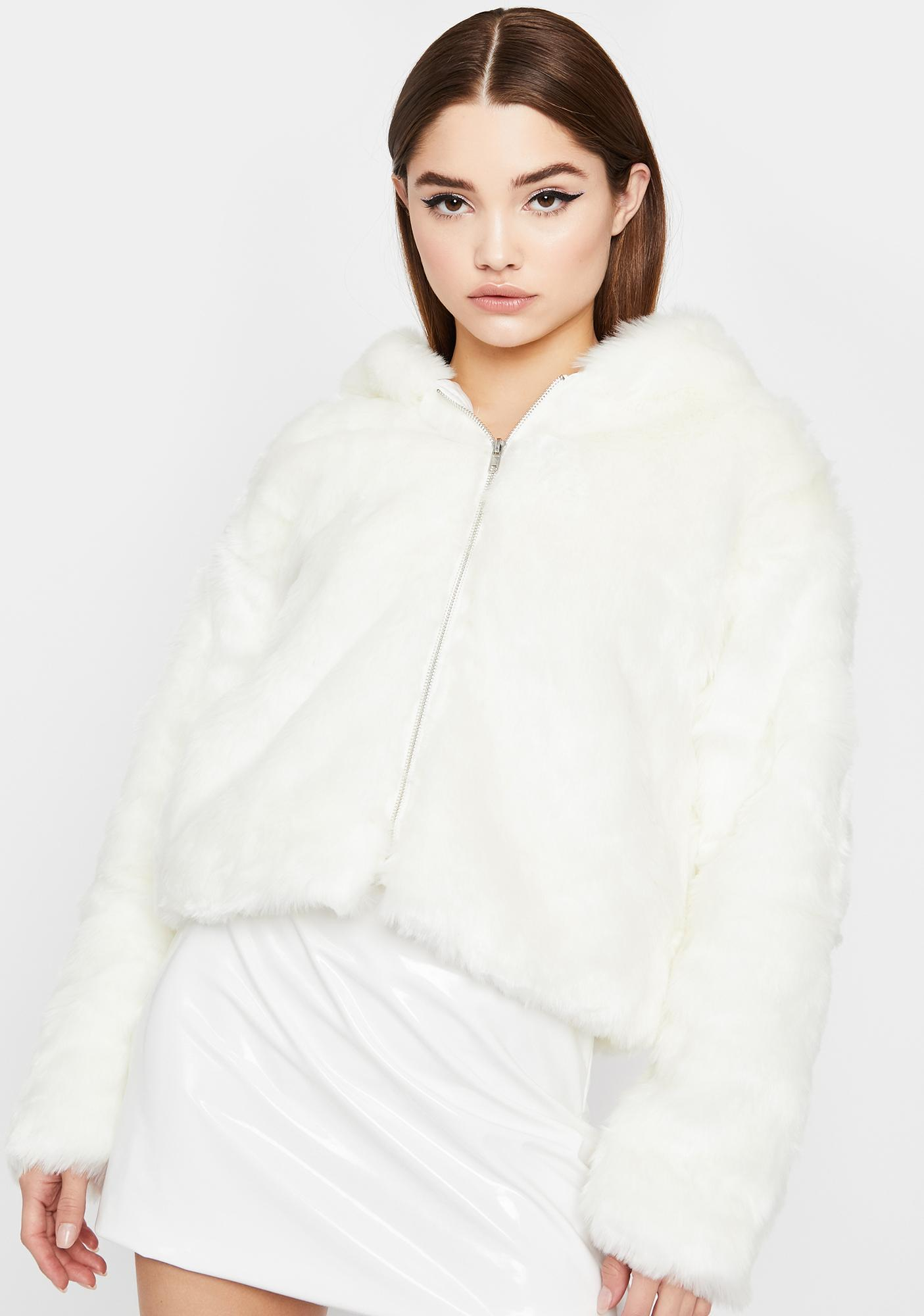 Fluff N' Puff Faux Fur Hoodie