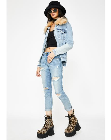 Rocket Power Ripped Boyfriend Jeans