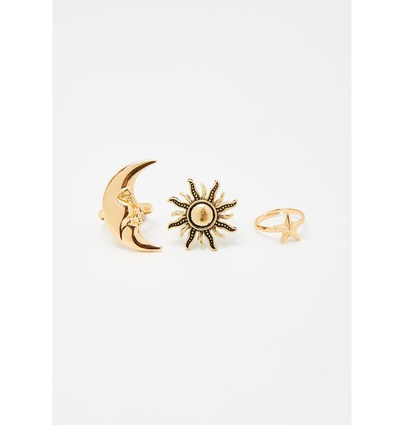 Orion's Belt Ring Set