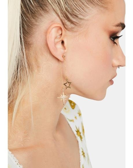 Guiding Star Drop Earrings