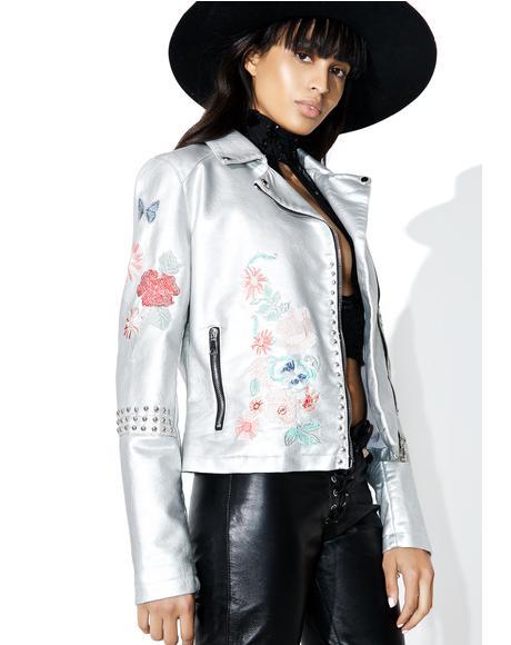 Wild Flower Moto Jacket