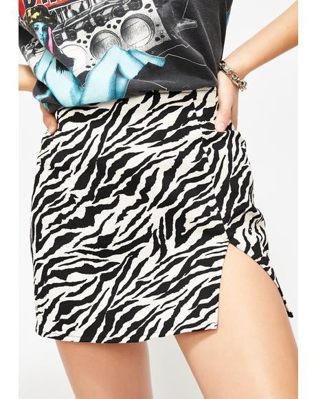 Zebra Pelmet Skirt