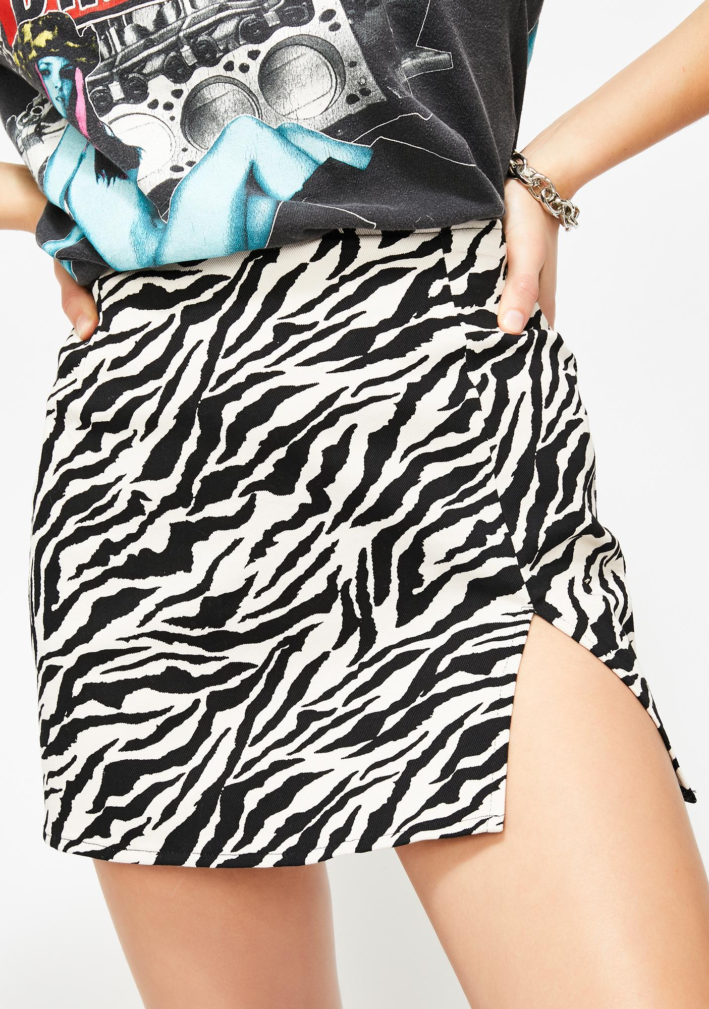 Zebra Pelmet Skirt by Motel
